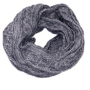 Silver and grey Infinity Scarf.